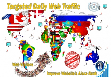 High-Quality Search Traffic from Google Search Keyword and Target Country web visitors for 30 days