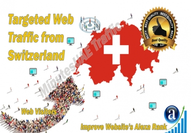 Swiss web visitors real targeted Organic web traffic from Switzerland