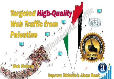 Palestinian web visitors real targeted high-quality web traffic from Palestine