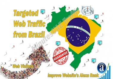 Brazilian web visitors real targeted Organic web traffic from Brazil