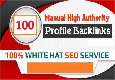 100 Build website ranking with Manual DA 60+ Profile Backlinks