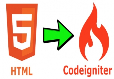 HTML to Codeigniter Dynamic Website Service