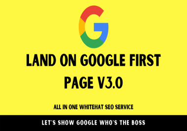 Land on Google 1st page with High DA Web2.0 Backlinks v3