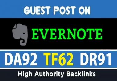 Publish A Guest Post On DA92 Evernote Site