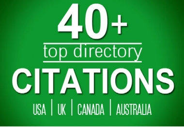 build 40 directory citations for usa, uk, canada local listing business