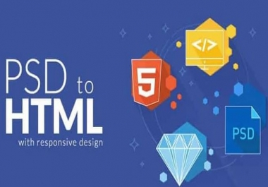 I can convert PSD to HTML Responsive with Bootstrap4