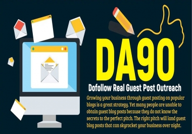 Publish a Guest Post on DA90 Site