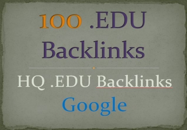 Get Build 100 HQ. EDU Backlinks