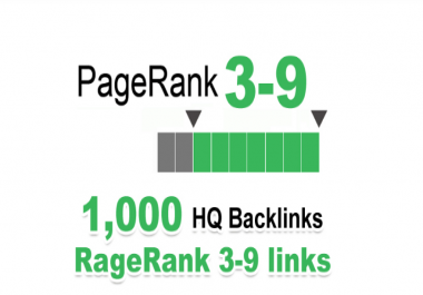 Increase 1000 PR 3-9 HQ Backlinks