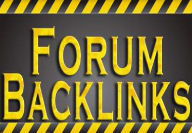 Provide 500 Forum Real Profiles Back-links