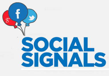 15000+ Real Social Signals including High PR9 Pinterest signals social