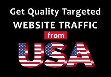 I will drive 1000 targeted USA web traffic to website