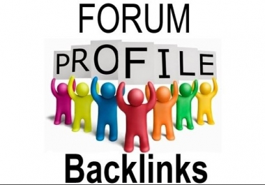 200 Forum Profile Backlink within 24 hours