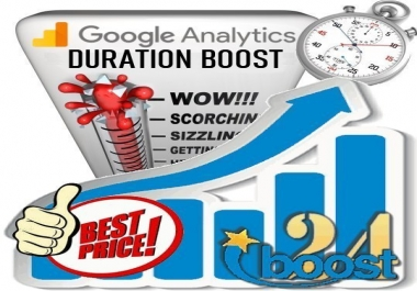 Google Analytics Visit Duration Boost for 30 days