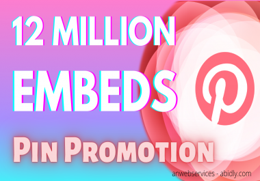 12 Million Pinterest Pin Embeds