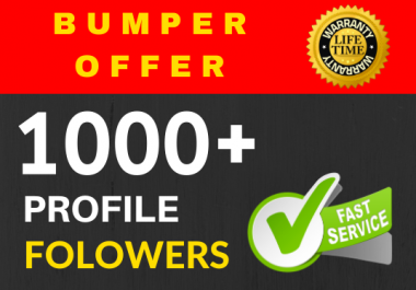 Add 1000+ Super Fast Real profile followers