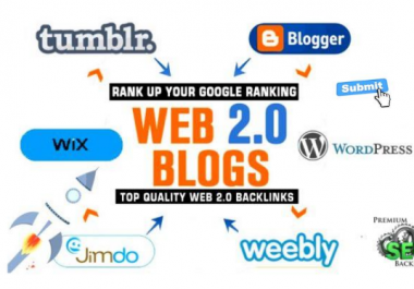 Create 20 Top-Quality Web 2.0 Blog Properties With Login For contextual back links