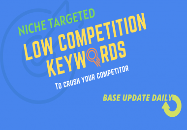 Fresh Low Competition Keywords with High Traffic