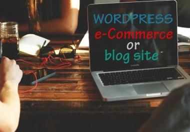 Create Wordpress ecommerce or blog site