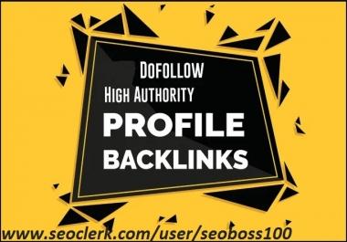 I will do social media SEO profile backlinks