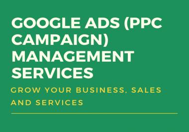 Google ads (AdWords PPC campaign) management services