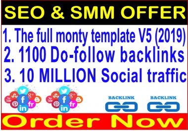 Google campaigns-SEnuke - The full monty template 2020-1100 Do Follow Backlinks-10 Million traffic