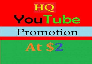 Social Media (YouTube) Promotion services