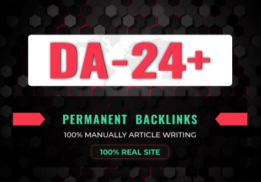 DA- 24 High quality Backlinks from Real Site