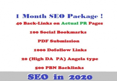 1 Month SEO! Actual Pr links,article submission,dofollow,social bookmarks ...EDU