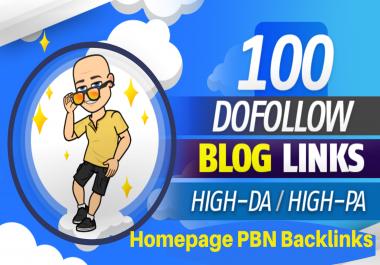 High DA/PA Do-Follow Homepage PBN Backlinks