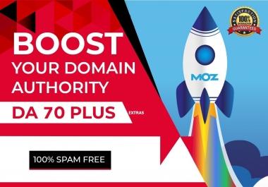 Boost Your Website MOZ Domain Authority DA 40 Plus