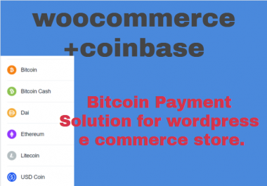 Bitcoin (+6) woo commerce payment solution for WordPress e commerce store.