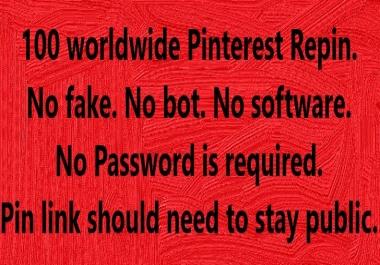 Application programming interface 100 Pinterest RePin worldwide