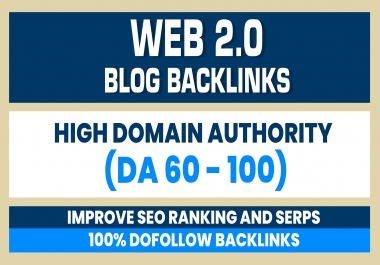 Build 10 Web 2.0 (DA 60-100) home page blogs post backlinks