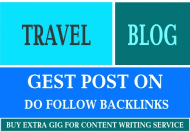 I will guest post on high quality travel blog