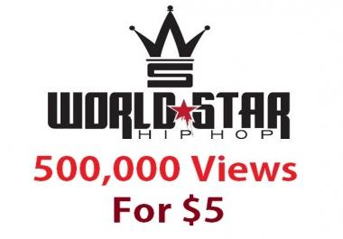 500,000 views worldstarhiphop hip hop wshh world star