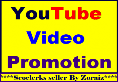 Organic Youtube video promotion & social media marketing fully safe