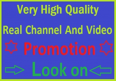 High Quality Rangking VIdeos Promotion On Social Marketing