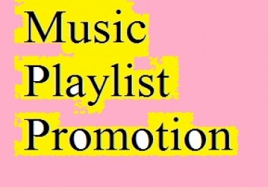 "Get Playlist Music Promotion only ""Artist Profile Promotion is Closed"""