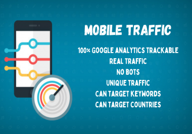 5000 real mobile traffic to your website