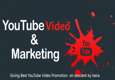 Non Drop Organic Your Youtube Video Promotion & Marketing