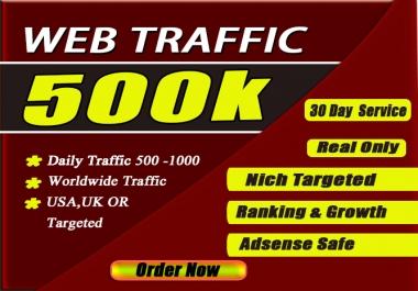 drive 40K usa targeted web traffic via social media