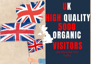 UK High Quality Organic Unique Website visitors