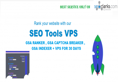 Windows Vps With Gsa Ranker + GSA Captcha Breaker + GSA Indexer For 1 Month
