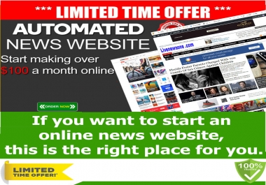Self Updating News Website - No work needed SEO ready