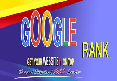 Google Rank #1 On Top Your Website SEO actual backlinks Manually