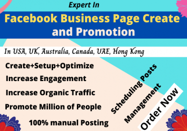 Facebook Business Page Create and Promote to 5,00,000 people Permanently