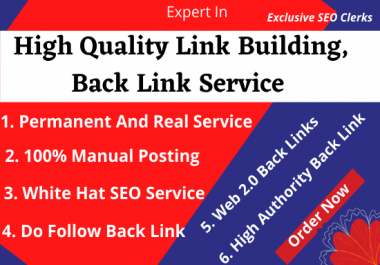 50 High Quality Dofollow White Hat SEO Backlinks, Link Buildings Manually