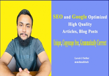 Write 1000+ words Seo Friendly Article or Blog Post