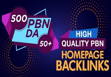 Make Manually 500 PBN Posts Dofollow Backlinks Upto DA50